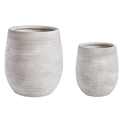 Set vasi piante Bizzotto GRAFFITI bianco 0790577