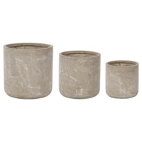 Set vasi piante Bizzotto CEMENT sabbia 0790564