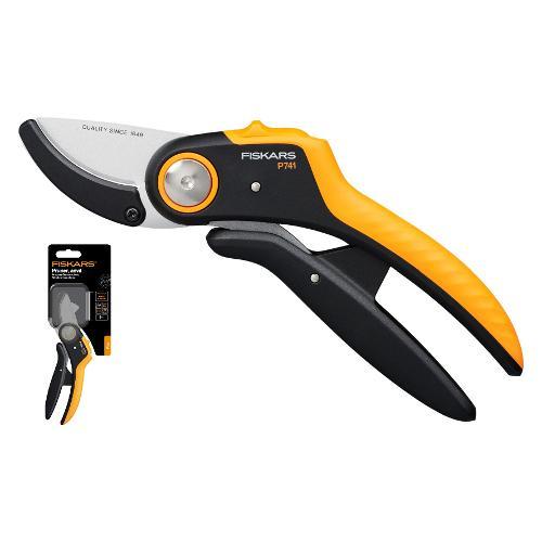 Forbice potatura Fiskars P741 Powerlever nero e arancio taglio max d. 2,4 cm 1057171