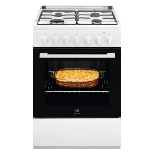 Cucina gas Rex LKK600000W 943 005 292 4 fuochi forno Elettrico statico