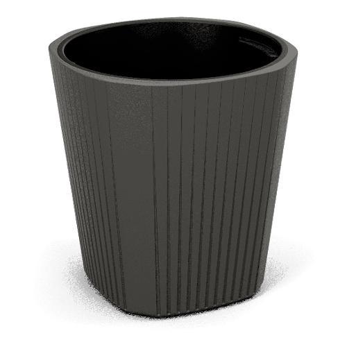 Vaso piante Lamela Muza plastica resistete al gelo grigio scuro D. 39 x h. 41  cm 886 82