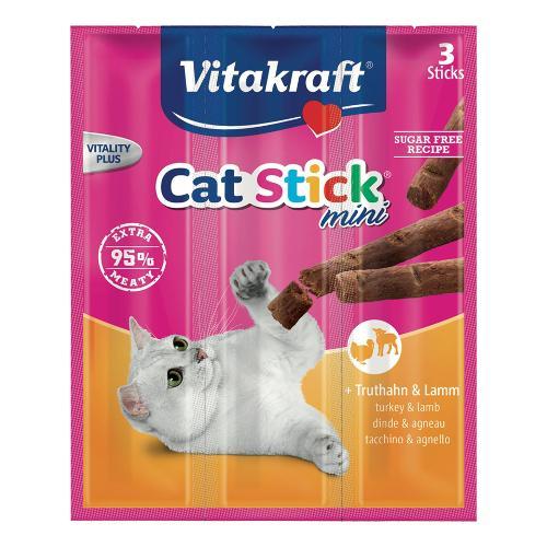 Snack gatto Vitakraft Cat Stick Mini tacchino e agnello Busta 3x18 gr 24192