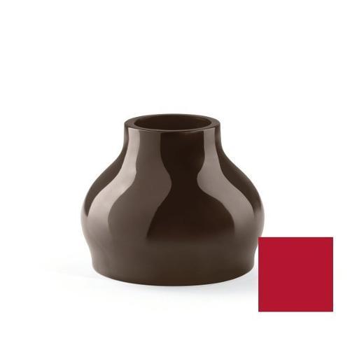 Vaso arredo interno ed esterno Plust Fuzzy rosso orientale laccato D. 45 x h. 35,5  cm 6537-d7