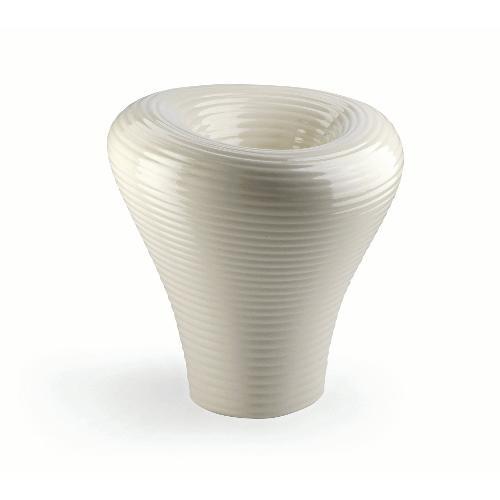 Vaso arredo interno ed esterno Plust Tambo bianco perla laccato 73 x 75 x 73  cm 6522-d3