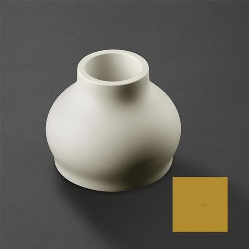 Vaso arredo interno ed esterno Plust Fuzzy giallo curry D. 45 x h. 35,5  cm 6237-c9