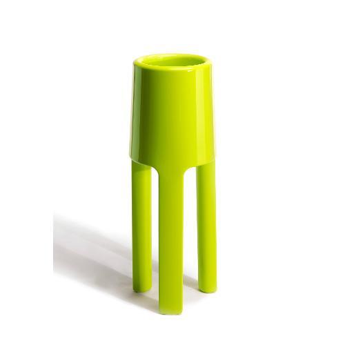 Vaso arredo interno ed esterno Plust Sepio verde acido laccato 47 x 47 x 120  cm 6520-86