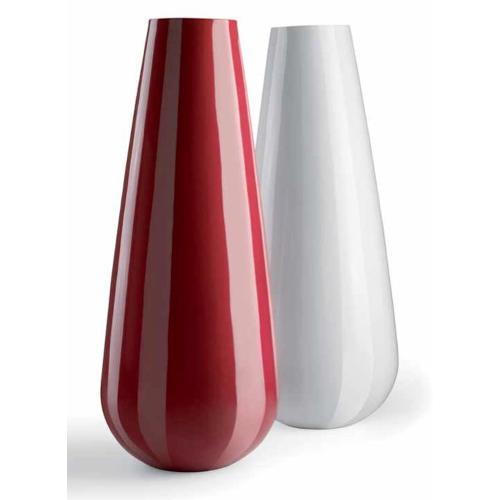 Vaso arredo interno ed esterno Plust Buba bianco laccato D. 71 x h. 175  cm 6502-03