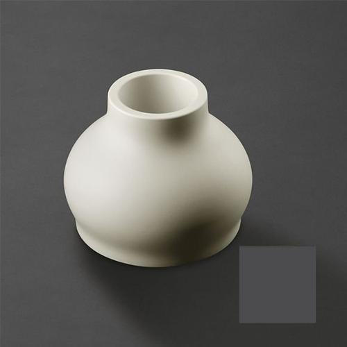 Vaso arredo interno ed esterno Plust Fuzzy nero perla D. 45 x h. 35,5  cm 6237-87