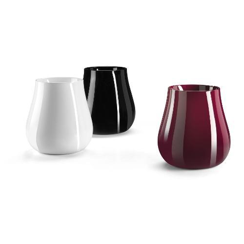 Vaso arredo interno ed esterno Plust Drop bianco laccato D. 69 x h. 73  cm 6554-03