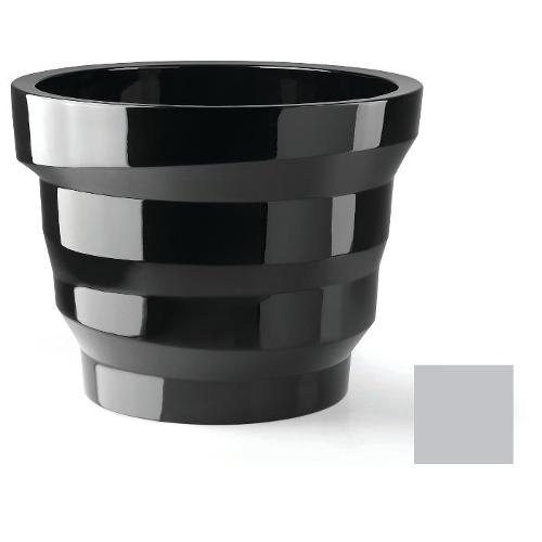 Vaso arredo interno ed esterno Plust Rebelot argento metallizzato D. 55 x h. 42  cm 6832-c8