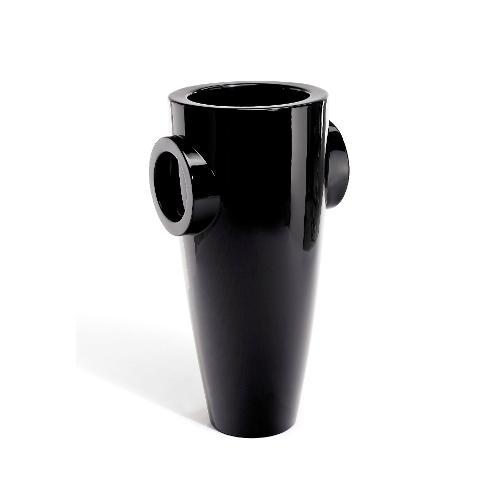 Vaso arredo interno ed esterno Plust Humprey nero laccato 57 x 65 x 126  cm 6526-07