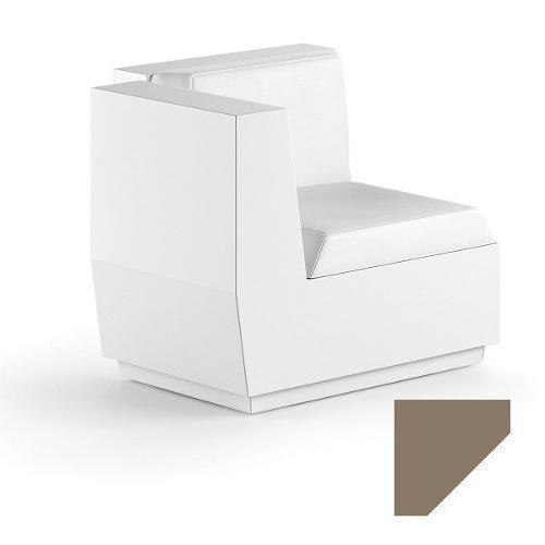 Modulo seduta per composizione divano angolo per uso esterno e interno Big-Cut Plust 6281-M6 81 x 81 x 73 cm finitura Tortora - bianco