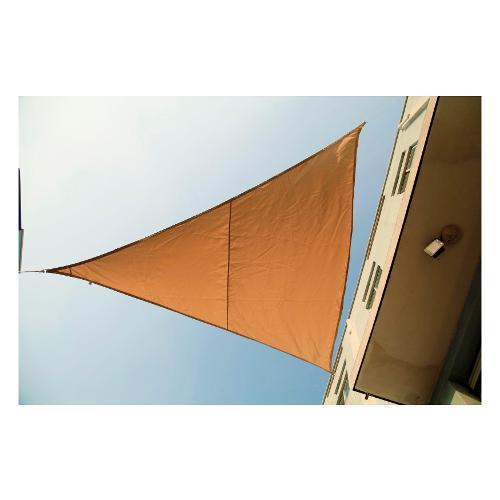 Tenda da sole Amicasa Tenda Ombreggiante 3,6x3,6x3,6 m Vela Beige
