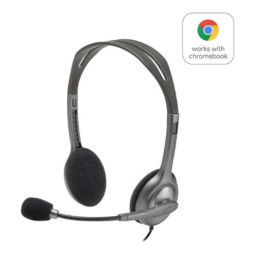 Cuffie microfono filo Logitech H111 Stereo Headset 981-000593 - Stereo Sovraurali On Ear Mini-jack 3,5 mm