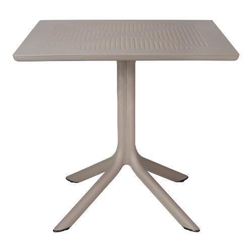 Tavolo fisso esterno Nardi 40082.10.000 80 x 80 x 75 cm Tortora Clip
