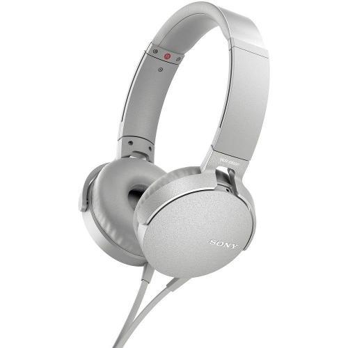 Cuffie microfono filo Sony MDR-XB550AP MDRXB550APW.CE7 - Stereo Sovraurali On Ear Mini-jack 3,5 mm