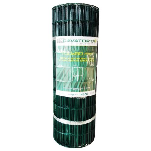 Rete recinzione Cavatorta filo acciaio zincato e plastificato Margherita verde alpi 25 x 1  m SO30100025BM