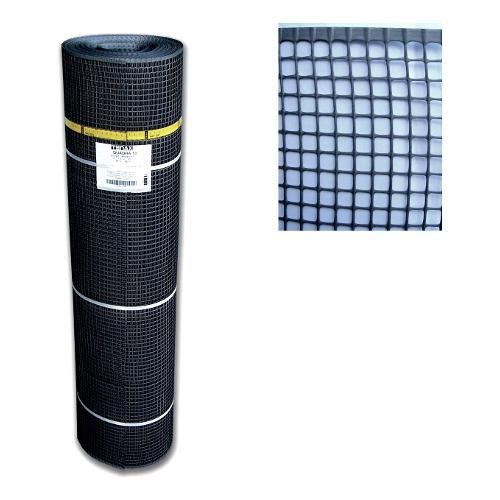 Rete recinzione Tenax hdpe polietilene ad alta densità Quadra antracite 50 x 1  m 1A140389