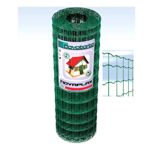 Rete recinzione Cavatorta filo acciaio zincato e plastificato Novaplax verde alpi 25 x 1  m SO03100025B