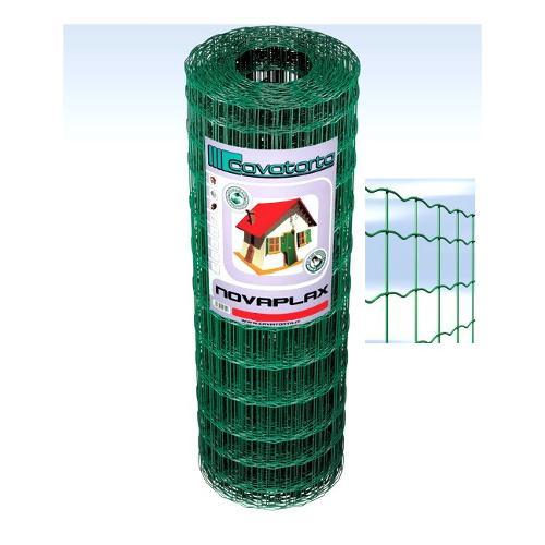 Rete recinzione Cavatorta filo acciaio zincato e plastificato Novaplax verde alpi 2500 x 80  cm SO03080025B
