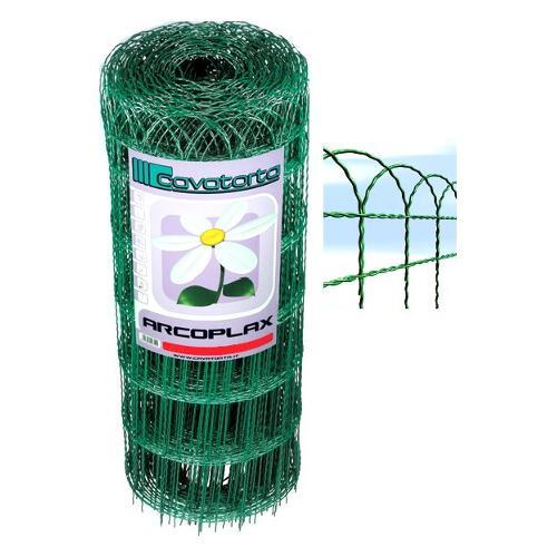 Rete recinzione Cavatorta filo acciaio zincato e plastificato Arcoplax verde alpi 2500 x 65  cm RA01065025B