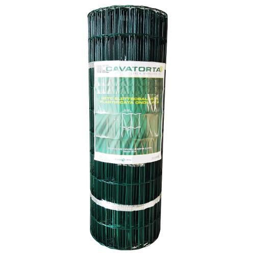 Rete recinzione Cavatorta filo acciaio zincato e plastificato Margherita verde alpi 25 x 1,2  m SO30120025BM