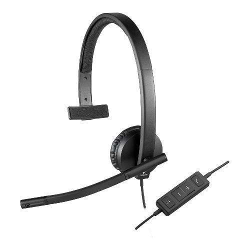Cuffie microfono filo Logitech Headset H570e - Mono 981-000571 - Mono Sovraurali On Ear USB Type-A