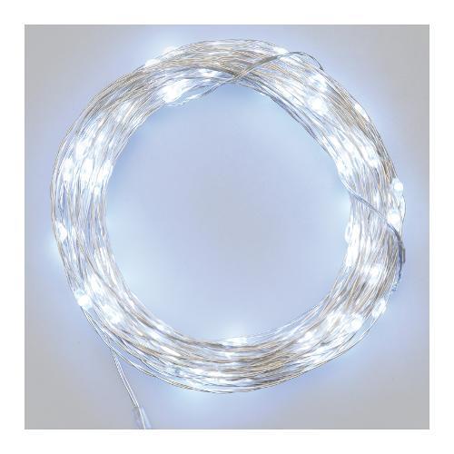 Filo luci Lotti Micro Led Bianco 1000 +  50  cm nr 100 luci 45361