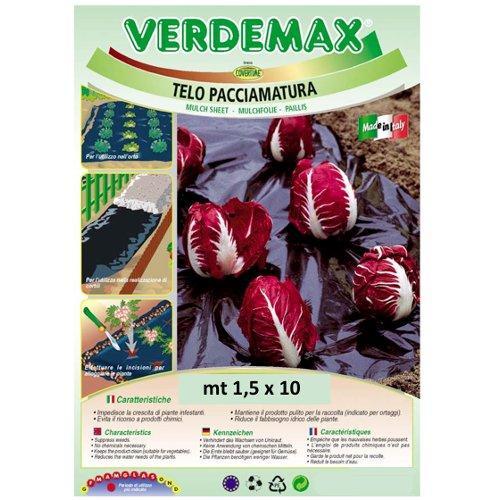 Telo pacciamatura Verdemax 6761 nero 10 x 1,5  m