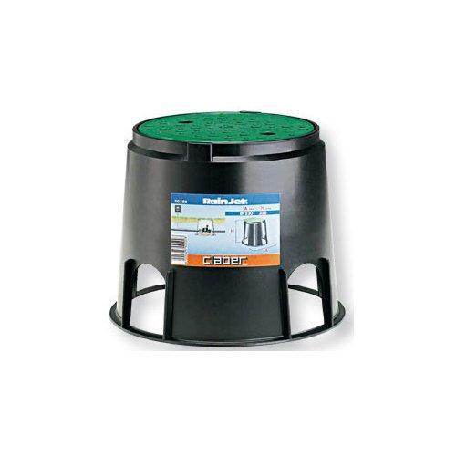 Pozzetto impianto irrigazione Claber Rainjet nero e verde D. 9 x h. 25  cm 90500