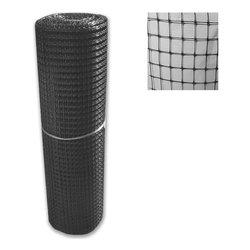 Rete recinzione Tenax hdpe polietilene ad alta densità Cintoflex nero 100 x 1  m 60040409