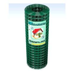 Rete recinzione Cavatorta filo acciaio zincato e plastificato Esaplax verde alpi 2500 x 60  cm SE02060025B